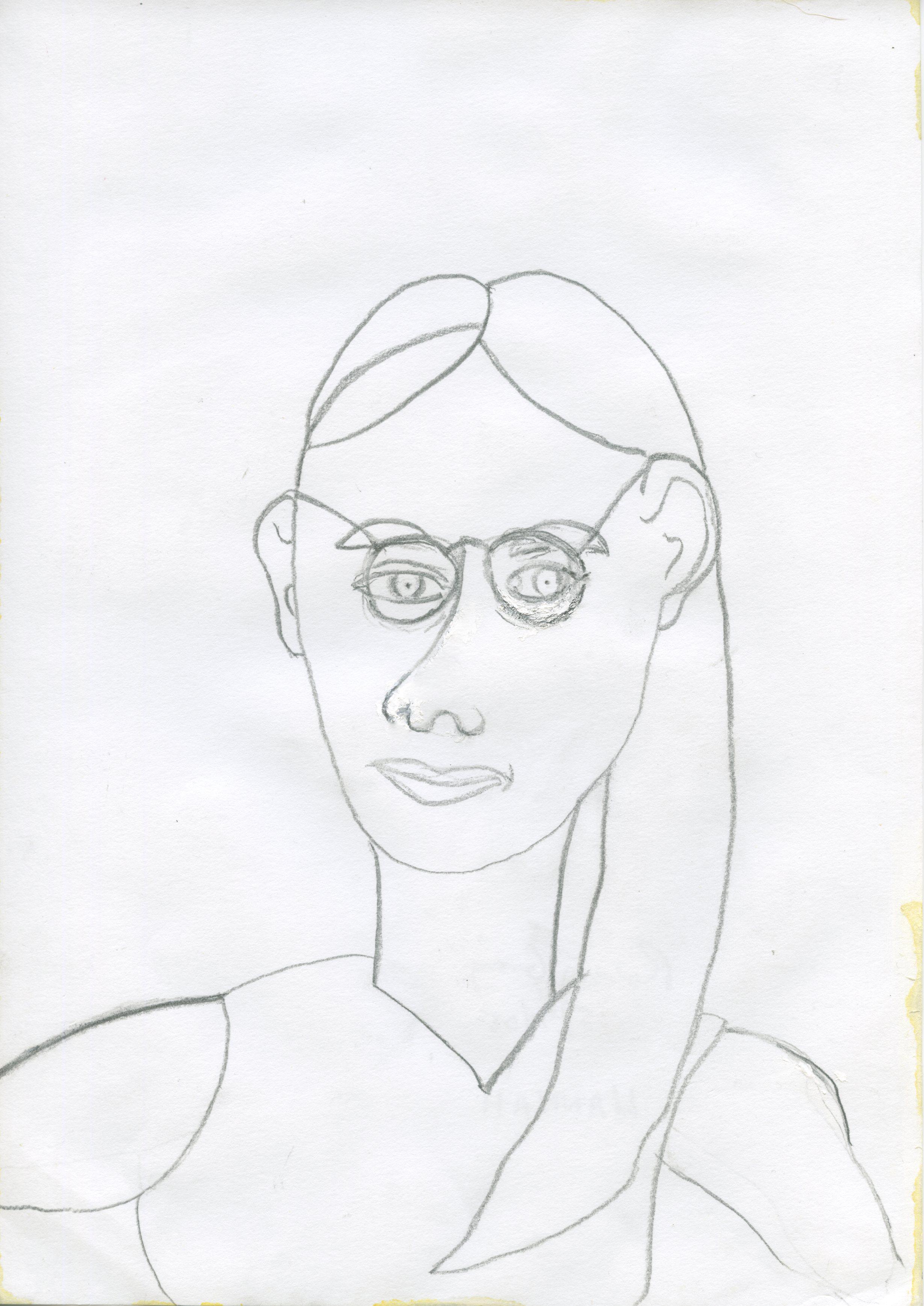 Hannah, pencil