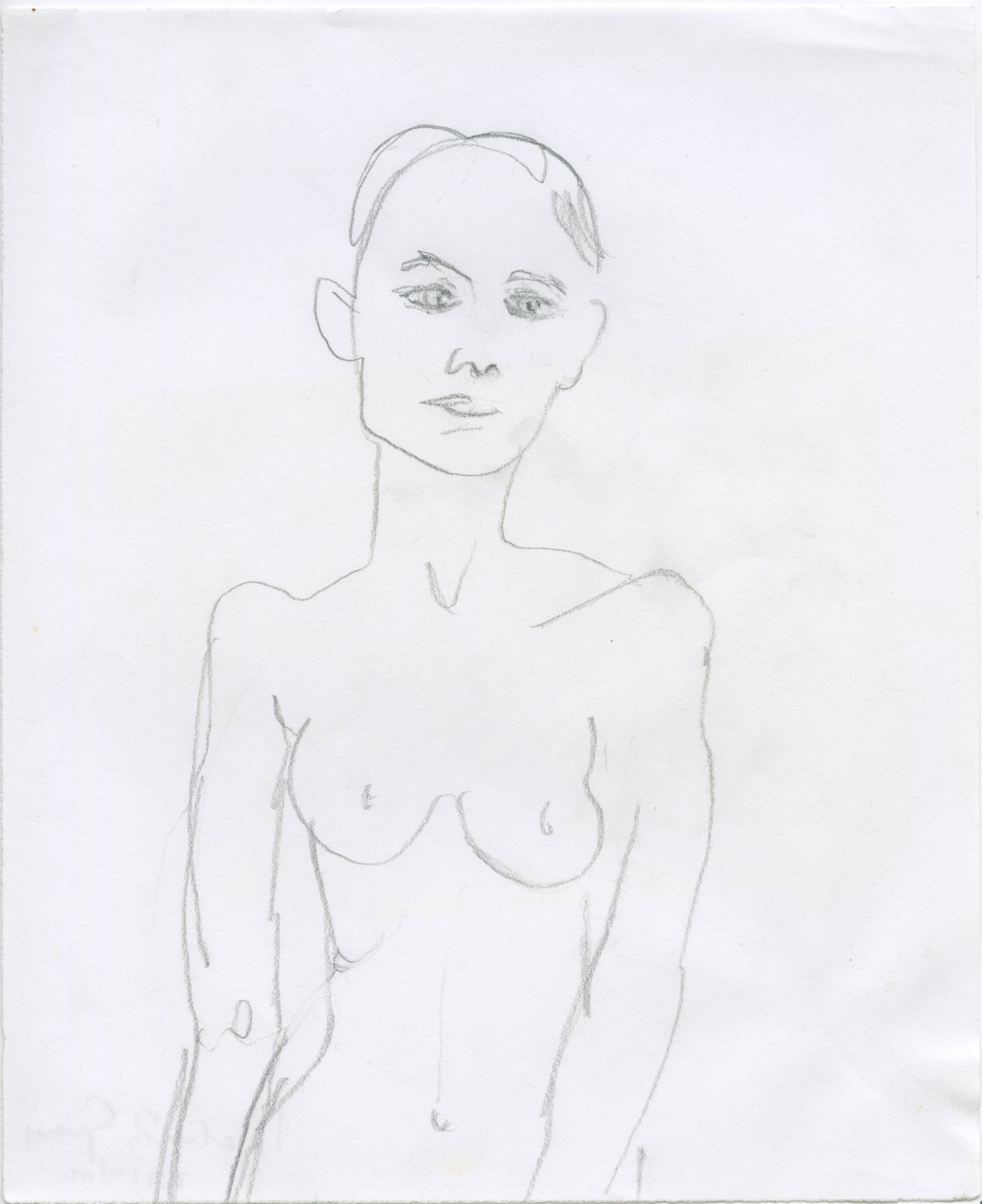 Thin nude, pencil
