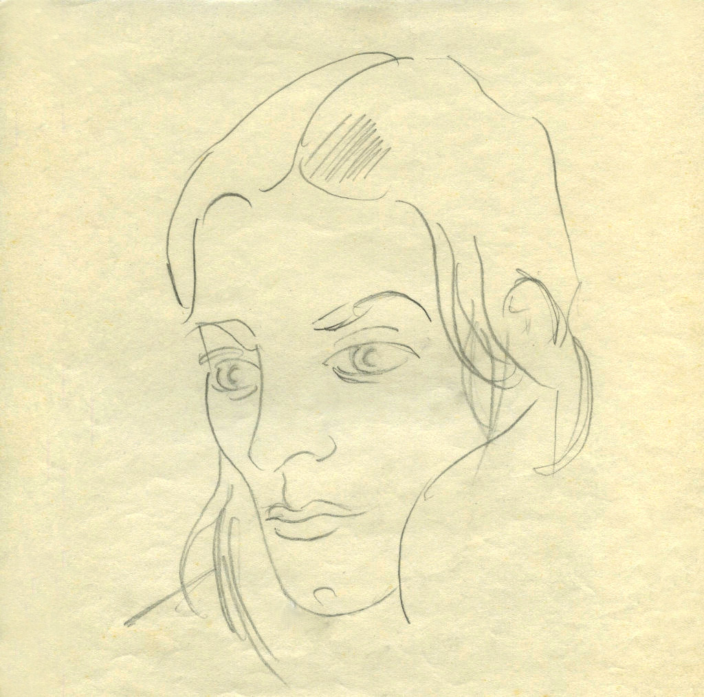 Dale and the Future, pencil, 1970