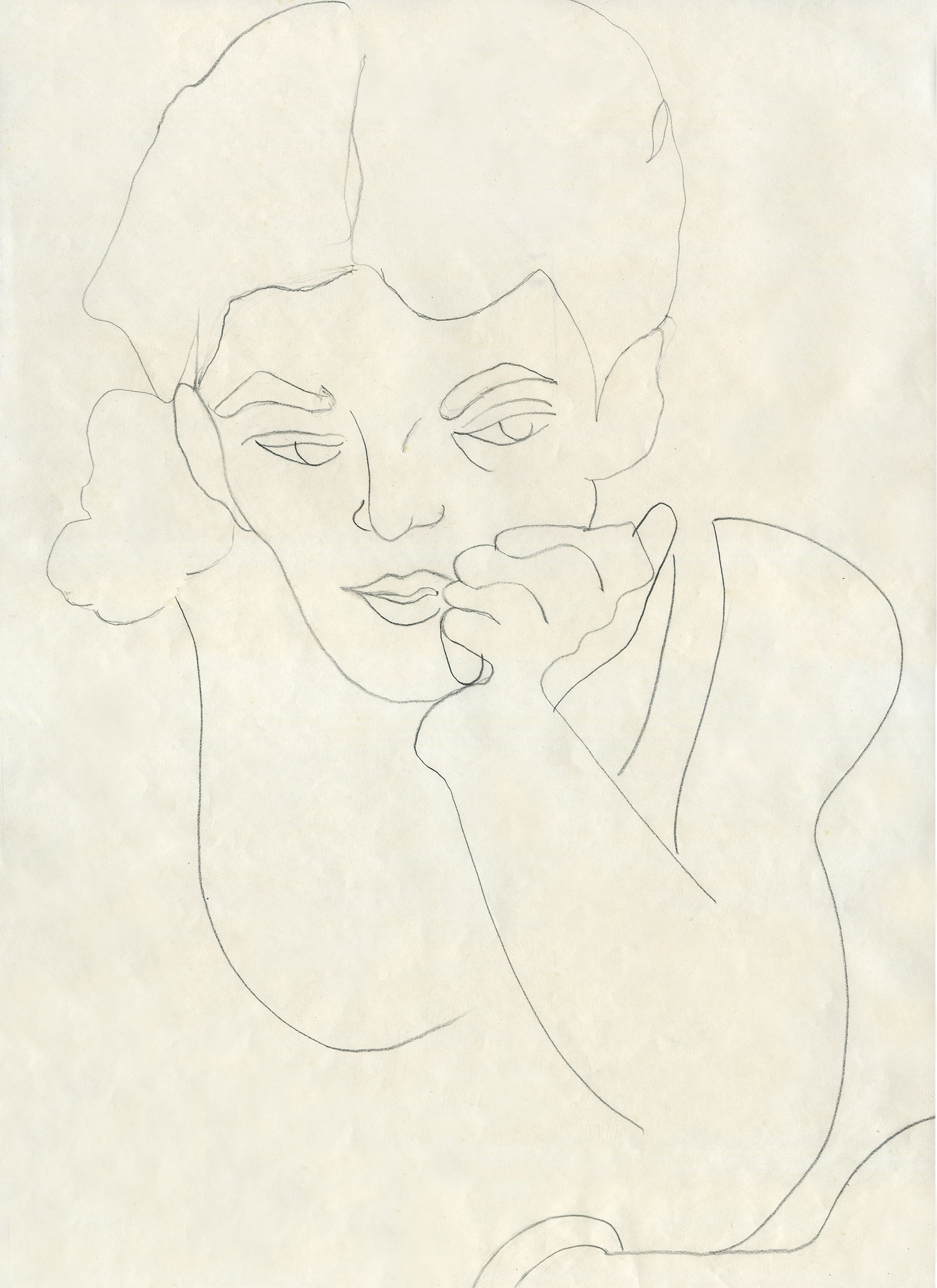 At the Cafe (1970), pencil